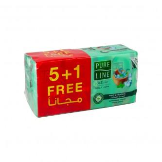 صابون جسم بيور لاين النعناع والمنثول 120جرام  ( 5+1 مجانا )