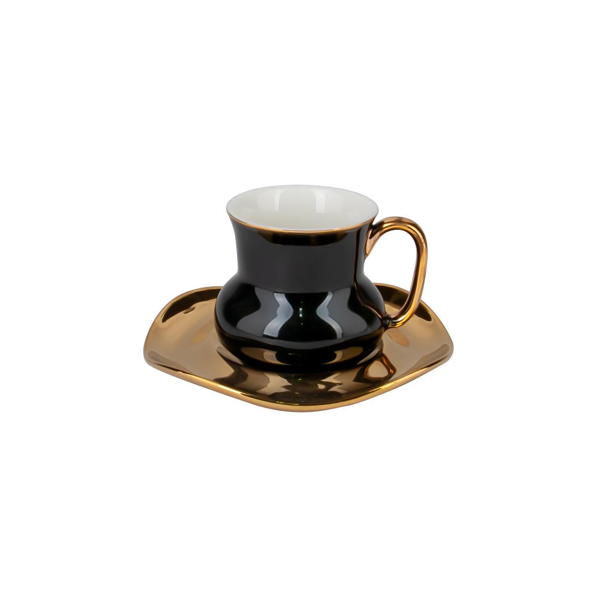 كوب قهوة سيراميك  مع صحن , الوان متعددة موديل 559295
