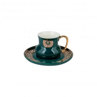 كوب قهوة سيراميك  مع صحن , الوان متعددة , موديل 559296