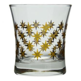 كاسات  زجاج  طقم 3 حبة  منقوش  رقم  420014