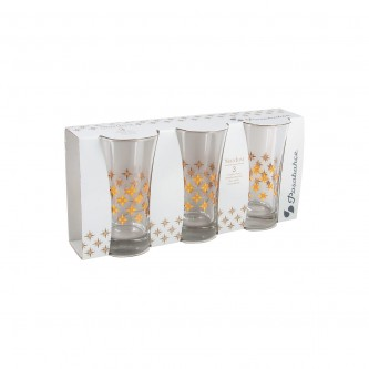 كاسات  زجاج  طقم  3 حبة  منقوش  رقم  420055