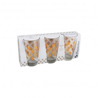 كاسات  زجاج  طقم  3 حبة  منقوش  رقم  42877