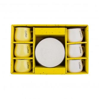 طقم  اكواب سيراميك مع الصحون , 12 قطعة رقم 559522