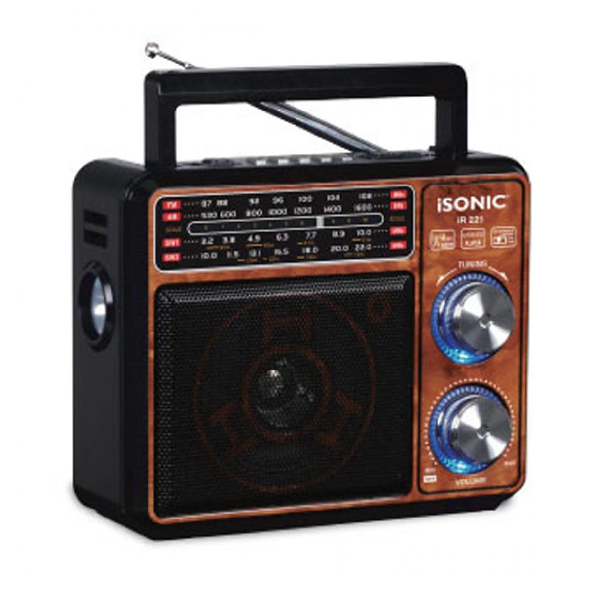 راديو قابل للشحن مع مشغل MP3 , ايسونيك موديل IR 221