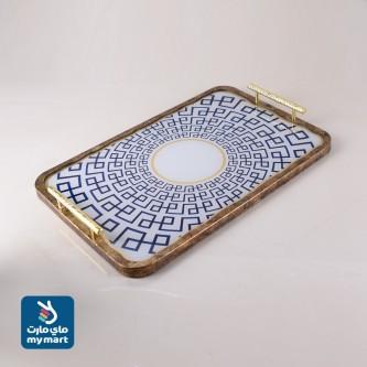 طفرية تقديم مستطيل مفرد زجاج باطار خشبي رقم 559511