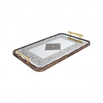 طفرية تقديم مستطيل مفرد زجاج باطار خشبي رقم 559507