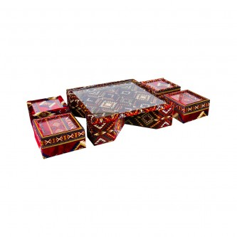 طقم طاولة خدمة تراثي  5 قطعة موديل 8813