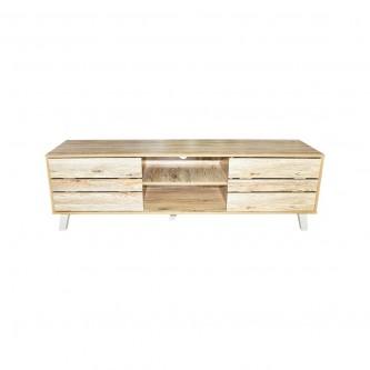 طاولة تلفاز مع ارفف خشبيه بيج  رقم 1270375