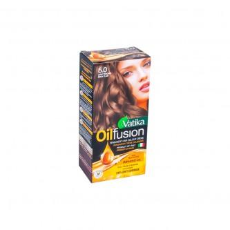 صبغة اويل فيوجن لتلوين الشعر 5.0 لون بني فاتح مع تغذية زيت اللوز
