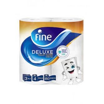 مناديل حمامات ورقية فاين - 4 رول - 150 منديل مزدوج