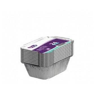 وعاء المنيوم  مربع 250 ملي 24حبة مع غطاء رقم 1025