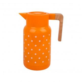 ترمس بلاستيك منقط لون برتقالي مقاس  1.0 لتر رقم 98849