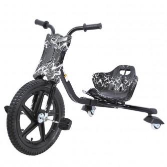 سيكل ثلاث عجلات اطفال لون اسود مع ابيض SC006