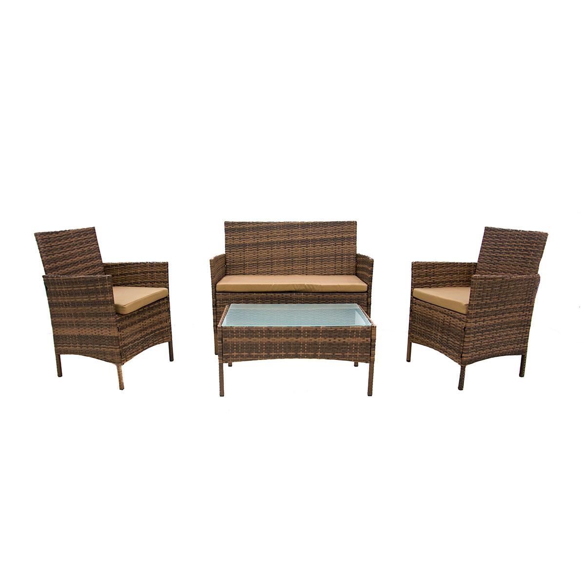 طاولة  حديقة  مع  3  كرسي  خيزران   DB-09 رقم 210013A