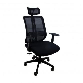كرسي مكتب متحرك بعجلات لون اسود 6060 رقم 04000319