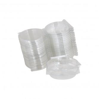 علب  بلاستيك  شفاف  بغطاء  متصل  50 حبة رقم  205