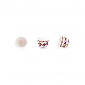 طقم فناجين قهوة عربي عسيري 12حبه رقم XN04319