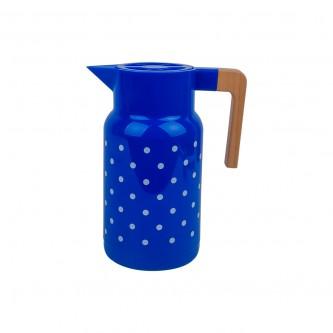 ترمس بلاستيك منقط لون ازرق مقاس  1.0 لتر رقم 98852