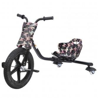 سيكل ثلاث عجلات اطفال لون اسود مع فراشه  SC006