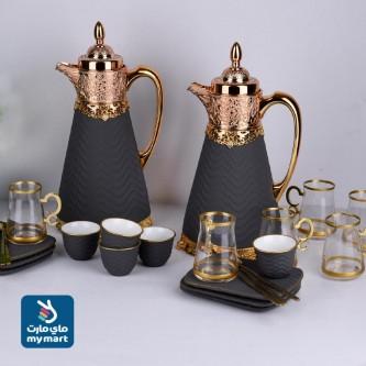 طقم شاي وقهوة 26 قطعة لون رمادي موديل 020513