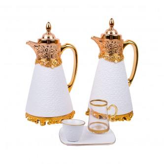 طقم شاي وقهوة 26 قطعة لون ابيض موديل 020511