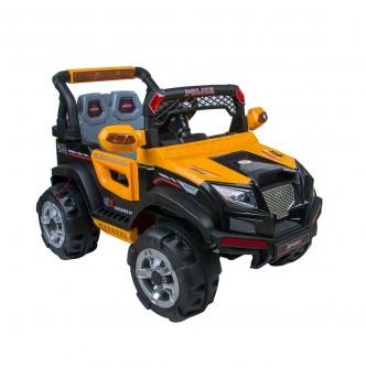 سيارة  اطفال كهربائية جيب لون اصفر رقم BBH-318