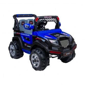سيارة  اطفال كهربائية جيب لون ازرق رقم BBH-318