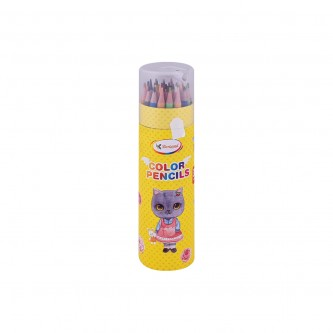 اقلام تلوين خشبية شخصيات اطفال متنوعه مع براية , 36 قلم تلوين