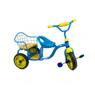 دراجة اطفال ثلاث عجلات - 2 مقعد -لون ازرق موديل TRI295