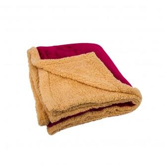 بطانية فرو خفيفة و ناعمة مقاس 240*220 سم  لون احمر