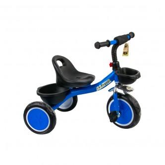 دراجة اطفال ثلاث عجلات - مقعد واحد  سله لون ازرق رقم  907