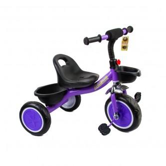 دراجة اطفال ثلاث عجلات - مقعد واحد  سله لون موف رقم  907
