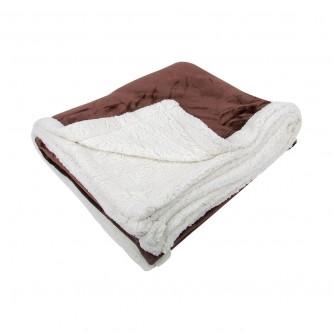 بطانية فرو خفيفة و ناعمة مقاس 240*220 سم  لون بني