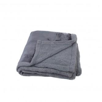 بطانية فرو خفيفة و ناعمة مقاس 240*220 سم  لون رمادي