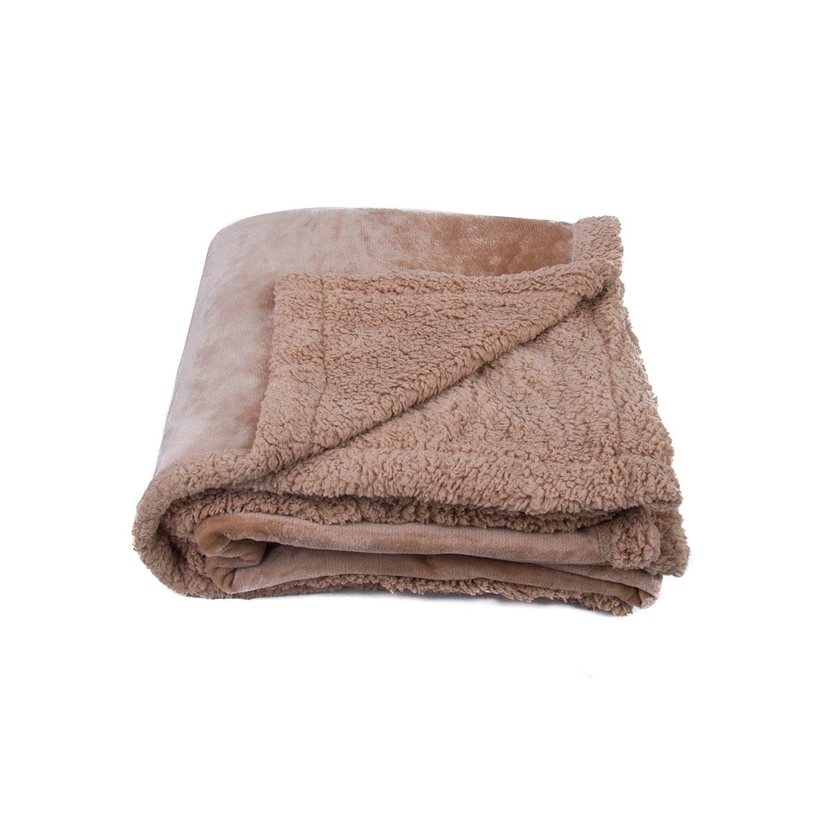 بطانية فرو خفيفة و ناعمة مقاس 240*220 سم  لون بيج