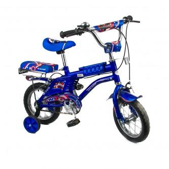 دراجة اطفال رامبو -  مقاس 12 إنش - لون ازرق