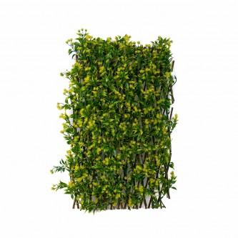 شجر ستارة  ورد بلاستيك على خشب لون اصفر  حجم وسط رقم YM-23036