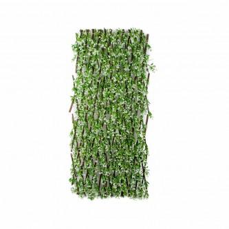 شجر ستارة ورد بلاستيك على خشب لون ابيض حجم كبير رقم YM-23035