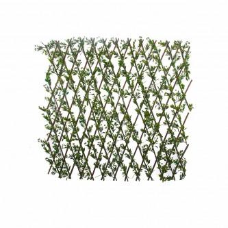شجر ستارة ورد بلاستيك على خشب لون اخضر  حجم كبير رقم YM-23035