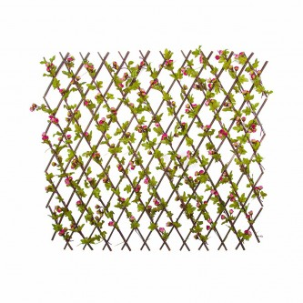 شجر ستارة ورد بلاستيك على خشب لون زهري  حجم كبير رقم YM-23045