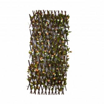 شجر ستارة ورد بلاستيك على خشب  لون وردي / ابيض   حجم كبير رقم YM-23045
