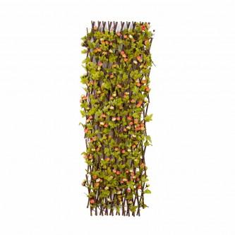 شجر ستارة ورد بلاستيك على خشب لون وردي / سكري   حجم كبير رقم YM-23045