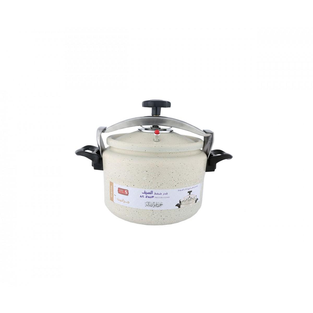 قدر  ضغط المنيوم جرانيت مقاس 5 لتر بيج موديل K98005/PW