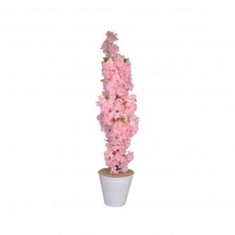 شجر تزيين صناعي ورد الربيع لون وردي  ( ارتفاع 145سم) مع قاعده