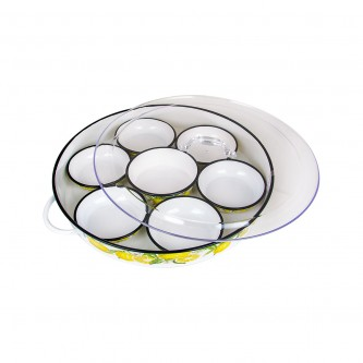 طقم  افطار  صحون  ابيض فواكه   وسط  رقم 558709