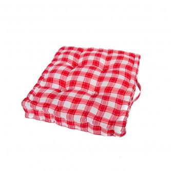 وسادة كرسي مربع  ناعمة ومريحة, كاروهات موديل 558326