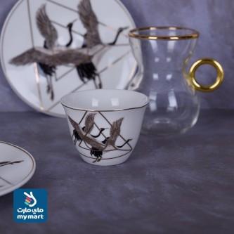 طقم فناجين قهوة  وبيالات شاي مع الصحون 36 قطعة رقم 770846