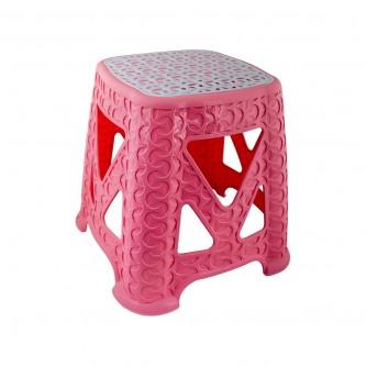 كرسي بلاستيك  (مقعد) لون وردي E-601