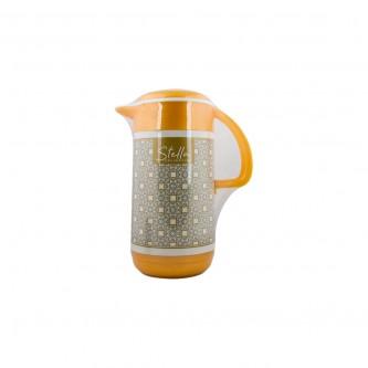 جاك مفرد بلاستيك مشجر بغطاء 1.2 لتر لون ذهبي رقم PN407