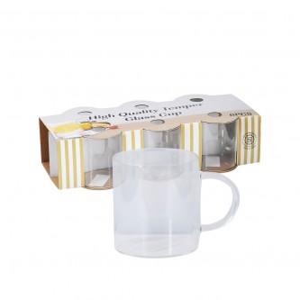 اكواب شاي زجاج بيد  طقم 6 حبة  رقم 19HM541